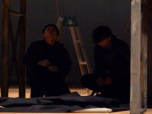 かっこよすぎる舞台美術家柴田氏と将来有望な俳優竹内氏